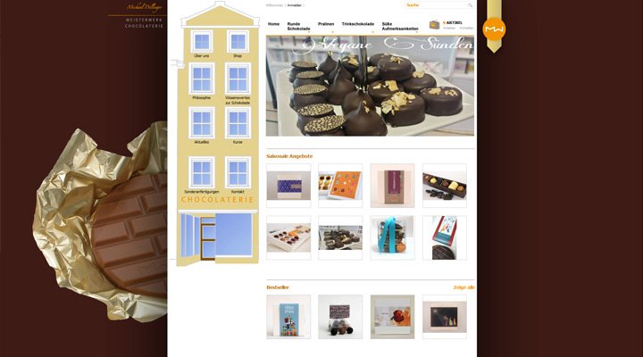 Homepage Meisterwerk Chocolaterie in Landsberg