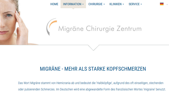Homepage Migraine-Surgery-Centre