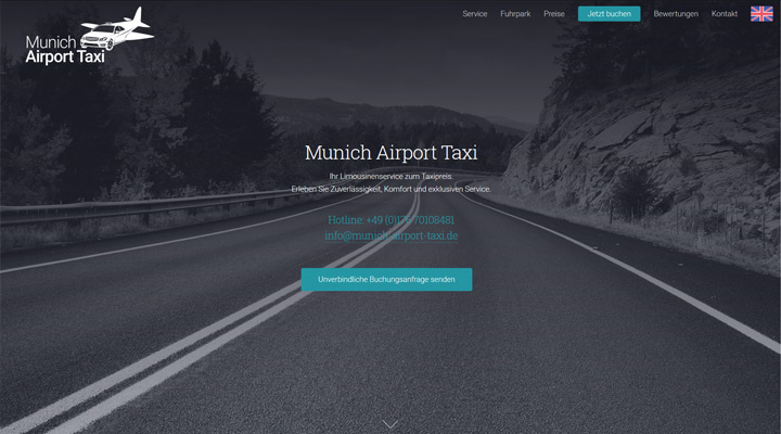 Homepage Munich Airport Taxi