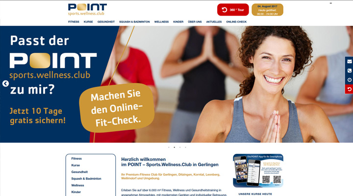 Homepage Point Sports in Gerlingen