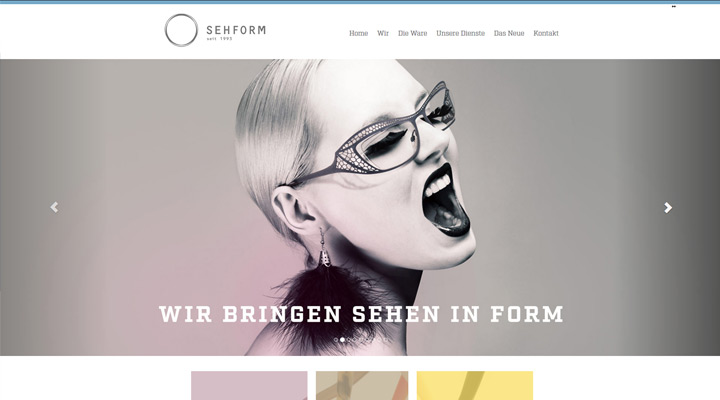 Homepage Sehform Optik