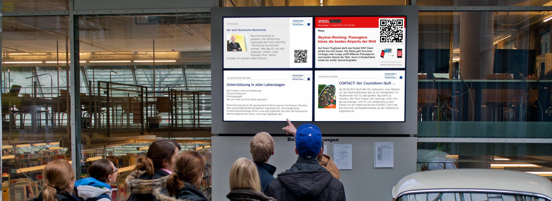 TH Ingolstadt | infomax liefert Display-Informationssystem für TH Ingolstadt